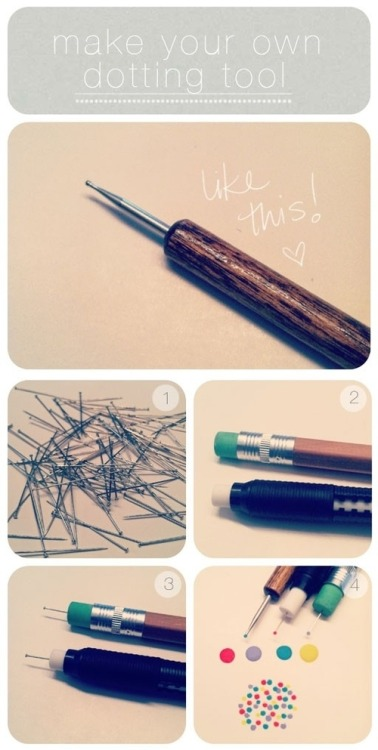 rollinglikeacamera:  DIY | Dotting Tool (for mani's)