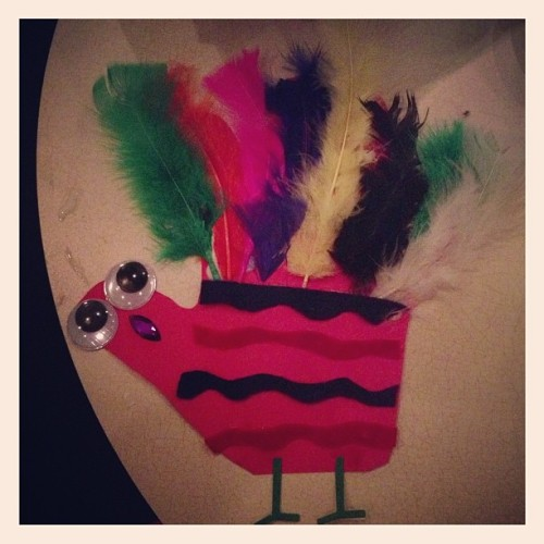 Making hand turkeys. #handturkey #gobble (at Tattooed Mom)
