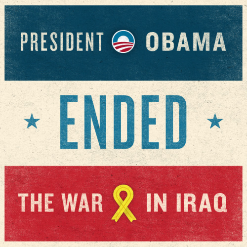 "President Obama kept his promise to end the war. Mitt Romney called the decision to bring our troops home ""tragic."""