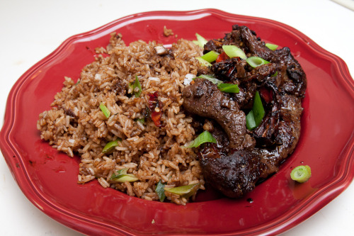 Fried Rice with Beef Liver