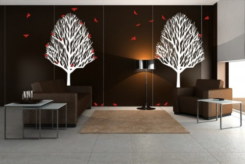 homedesigning:  (via Trees Birds Wall Decals)