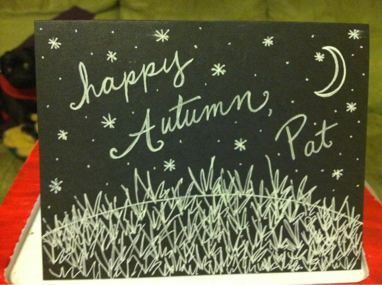 Autumn Greetings Card September 2012