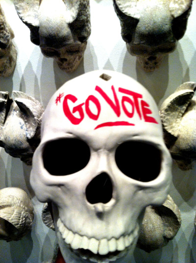 By now this should be stamped onto your dome. #GoVote by LA Graffiti legend Man One.  Tomorrow is election day. Click here to find your polling station and share these images with your friends to make sure they #GoVote as well. For more #govote images and to submit your own go to: govote.org