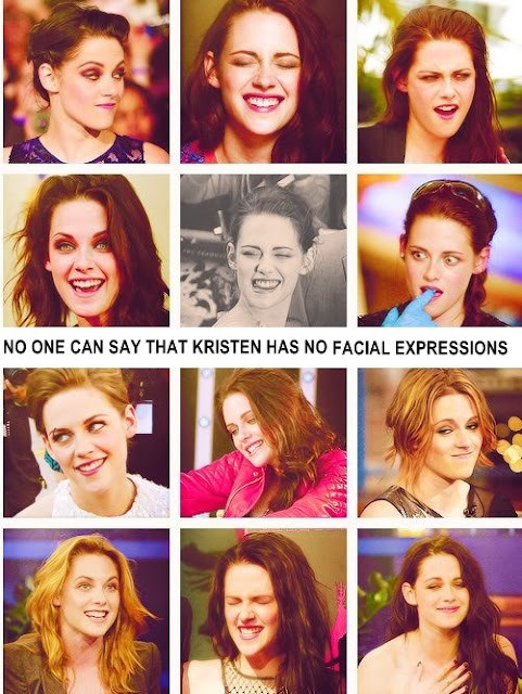 "fiercellamas:  To the people who think she is expressionless even if they are just joking around: You all be cray cray   Sadly, she is not using any of them in any of her movies. Seeing her try to emote in a scene is causing my physical pain, because it looks like it's causing her physical pain. ""Hmmmmmmmmmmmmpfffffffffffffcomeoutyouhmmmmmmmmmmmhjemmmmmmmmmmmmmsadfacecomeouthmmmmmmmmpffffffffffffffmeeeeeeeeeeeeeeehhhhhhhhhhhhhhhh - of fuck it's not working I'll just go back to my one vapid expression again"" Honey, call yourself what you want, just don't ever call yourself an actress. It's an insult to all the fantastic actresses that came before you and they will come after you, once the industry's inexplicable love story with you has ended.  I mean, could she have looked any more bored and desinterested on the On The Road red carpet at AFI? Thanks for making it so plain and obvious that you couldn't give a fuck about the movie and your co-stars that worked their asses off, especially Garrett Hedlund and Sam Riley, who poured their hearts and souls into making the movie, while you just tagged along for the ride and ruined any scene you were in. And your slutty outfit………once again you looked as if just half an hour earlier, you had still been standing at the curb on Sunset Blvd  And don't even get me started on how she chose a public place to make out with a married man, shitting in the face of her boyfriend. Jesus, I need to stop or I'll really say things I may regret later……."