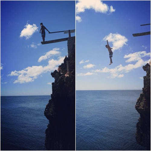 Sometimes, you just have to take the risk. #arielspoint #cliffjump (at Boracay Island)