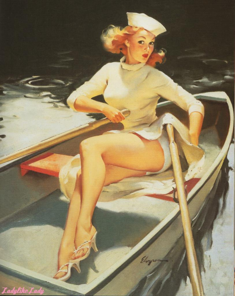 ladylikelady:  Hard to Handle, 1957 Gil Elvgren