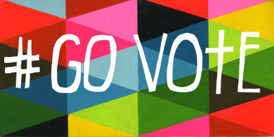 Lisa Congdon's #GoVote submission is like a unicorn exploding out of excitement to to go to the polls.  TODAY IS ELECTION DAY! Click here to find your polling station and share these images with your friends to make sure they #GoVote as well. For more #govote images and to submit your own go to: govote.org