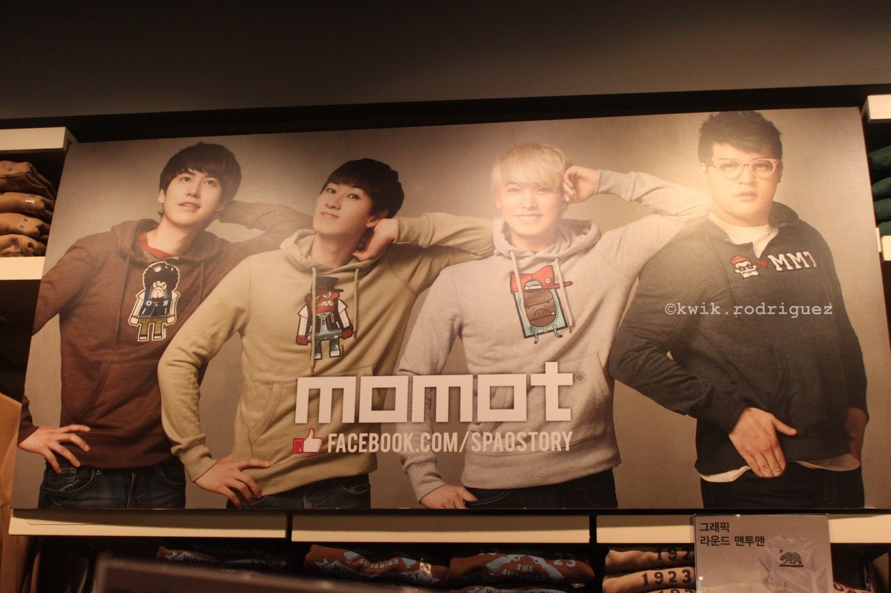 FAVORITE! Cutest picture inside SPAO :> Super Junior for SPAO @ Myeongdong, South Korea