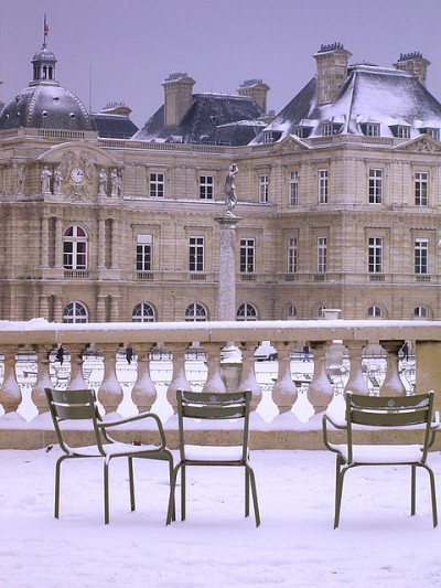 ysvoice:  | ♕ |  Jardins des Luxembourg - Paris in snow  | by © maralina!