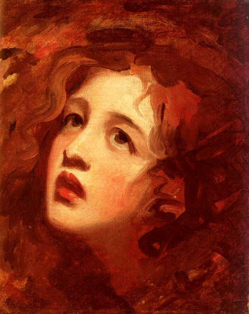 George Romney, Portrait Study Of Emma Hamilton As Miranda