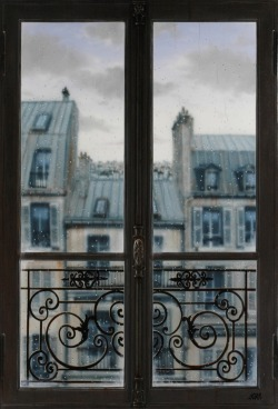 bella-illusione:  Paris Window by claude lazar  always reblog