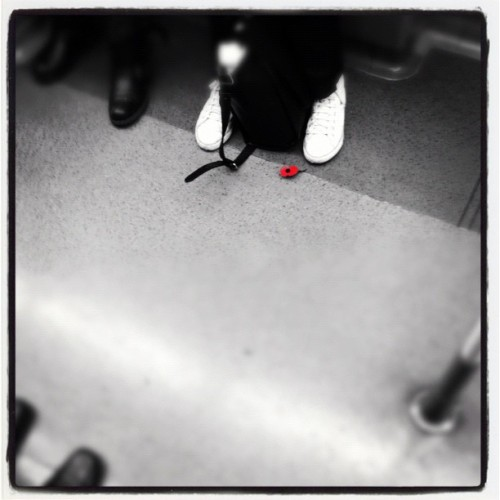 #Poppy #Red #instagram #London #igerslondon #Tube #underground #instahub #instagood #instamood #instadaily #iphone #iphoneonly #iphone5 #iphoneasia #photooftheday #picoftheday