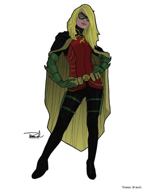Robin/Stephanie Brown by Thomas Branch (via Best Art Ever (This Week) - 11.02.12 - ComicsAlliance)