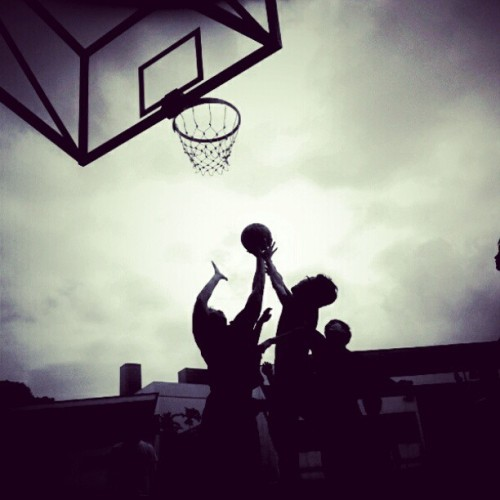 Reaching for the ball. #basketball #sports