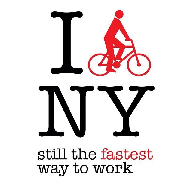 So this is why I need to learn how to ride a bike! noneck:  I #bikenyc, still the fastest way to work. Via @danlatorre (at Velvet Unicorn)