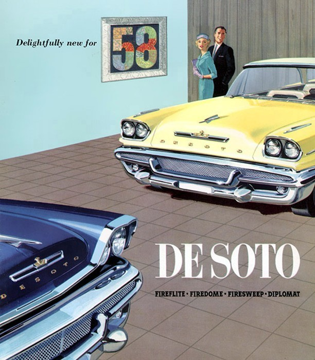 Delightful… 1958 DeSoto export brochure coverMopar Monday
