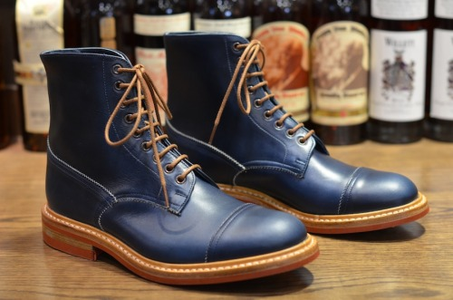Tricker's – Herman in Parisian Blue Cavalier Source: leathersoulhawaii.com
