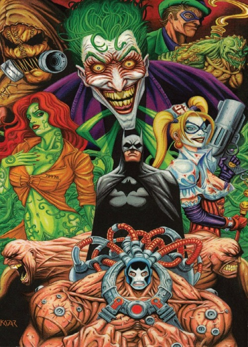 youngjusticer:  House of Mad. Arkham Asylum, by Frank Kadar.