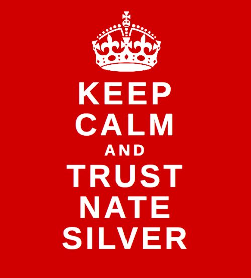 suitep:thisisthelifeichose:annaetc: You can only trust Nate Silver if you get out the vote.