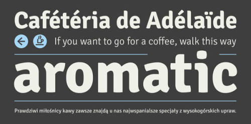 Designed by Anna Giedryś, Poland. Signika is great typeface that you can for free over at the Google web fonts directory.