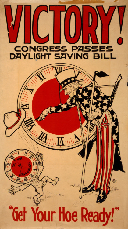 ~ Congress Passes Daylight Saving Bill, 1918via Flickr