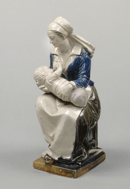 Woman nursing an infant, faïence d'Avon, 17th c. Musée de la Renaissance d'Écouen © RMN / Gérard Blot @credits  There were several stages in the progression from fifteen million inhabitants at the end of the 15th century to eighteen million by 1610, the year of Henri IV's death. There was strong growth in the first half of the 16th century, no doubt due to the fact that people were better fed and had better resistance to diseases. By 1560, the population had more or less reached the level attained in 1347. Growth then slowed, and even stagnated, in the second half of the century, when the violence and chaos that characterised the Wars of Religion brought with them crises of subsistence and increased vulnerability to illness. The return of peace to the kingdom brought about a renewed upswing.