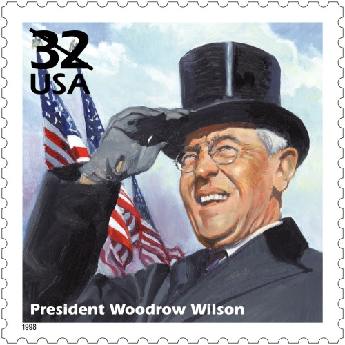 uspsstamps:  On November 5, 1912, Woodrow Wilson was elected the 28th President of the United States.  In 1998, he was honored on a stamp in the Celebrate the Century series.
