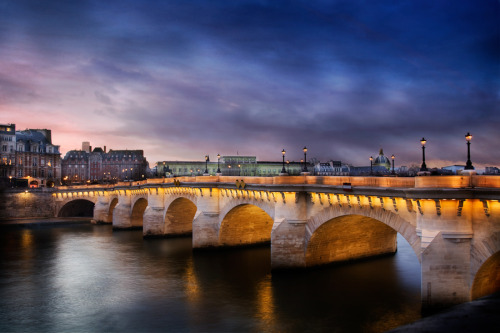 newyorkhabitat:  #FunFact of the Week: The oldest bridge in Paris is called the Pont Neuf, ironically meaning new bridge!  Pont Neuf