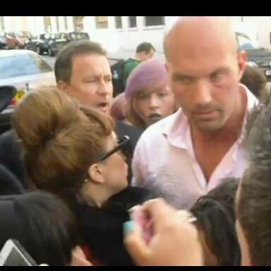Gaga looked at me!