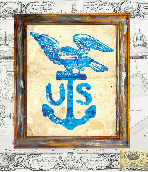 U.S. ANCHOR EAGLE. NEW PRINT AVAILABLE IN MY ETSY SHOP. 8X10 & 10X13 **WOOD FRAME INCLUDED**