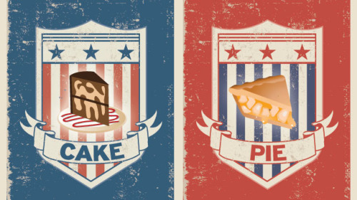 Decision 2012: Cake or Pie? 2012 been a long and tense election year. Here's a chance to have a little fun while you wait to see the results tomorrow. PBS Food is finally electing a winner to answer the controversial question: Cake or Pie? Click the link below and vote! http://to.pbs.org/XdRdKQ