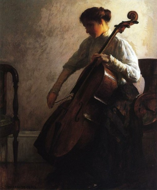 The cellist, Joseph Roderfer de Camp  Beautiful - I can almost hear those low tones flowing out.