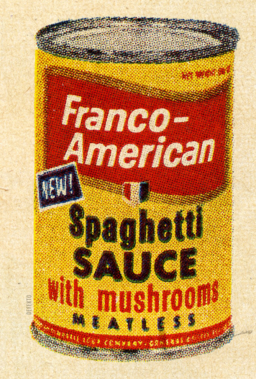 defekto:  FRANCO-AMERICAN. Spaghetti Sauce with mushrooms.