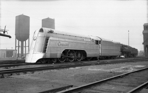 "Reading Railroad Engine #117 ""Crusader"", Communipaw, NJ, May 20, 1939. Photo by William J. Rugen. From the collection of Frank G. Zahn. via Queens Borough Public Library - Archives"
