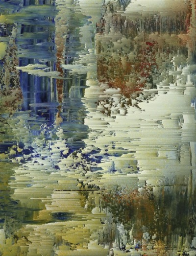 clintonmckay:  Oil on Rives BFK + Kim Asendorf's Pixel Sort program. I am seriously going to try to write my own data bending program soon.   that clintonmckay sure does do the work. :D