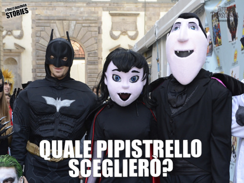 Dracula, Mavis & The Dark Knight at #LuccaMovie #LuccaComics Chi è il pipistrello più famoso? #lcg2012 #cosplay