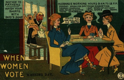 War on Women, Waged in Postcards: Memes From the Suffragist Era FILM: Women's Voices: The Gender Gap