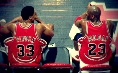 lions20spurs50:  The Original Batman & Robin. MJ & Scottie = 6 Rings