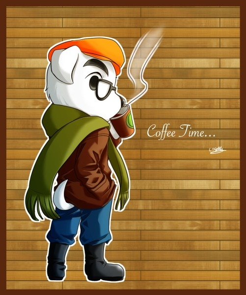 If K.K. Slider is going to be hanging out at the cafe, buying coffee from you and writing new songs in his Macbook, he's going to need to look the part. Stay fly, K.K.. Preorder: Animal Crossing 3DSSee also: More Animal Crossing posts[Via Cosmos]