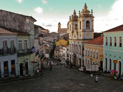 chad-fulo:  Pelourinho, Salvador-BA  This place. Dancing in the street every tuesday. Eating acarajé. This part is definitely a tourist trap, but man bahianos are some of the nicest/coolest people I ever met. saudades.