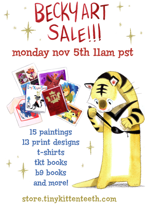 This is our first and only original art sale! Over 15 paintings! Limited edition books and prints! Last chance to get these before Christmas as we are off to the UK, Europe & Japan!