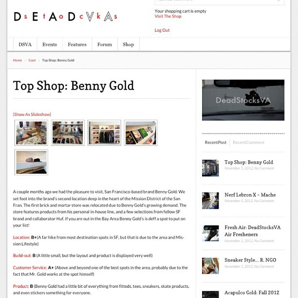 Checkout a lil review we did on our visit to @bennygold #dope #brand #design #streetwear #lifestyle #bennygold