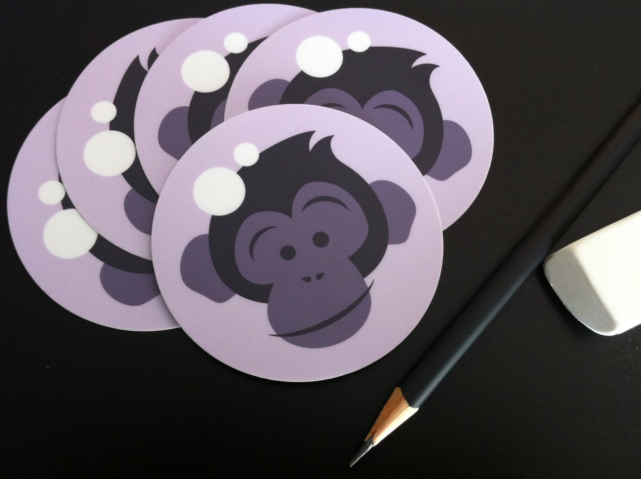 BOOM. Space Chimp stickers. This is how we rep our brand.