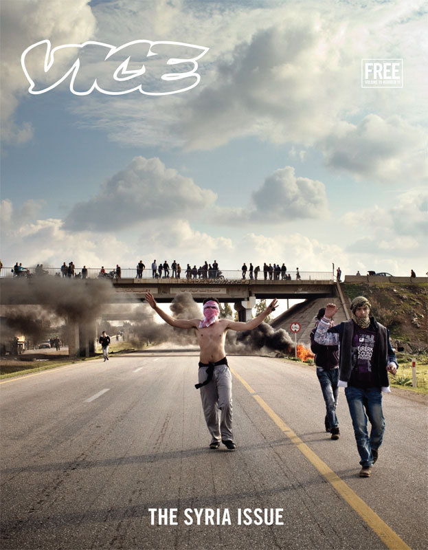 "Welcome to the Syria Issue  Today we are proud to present the first bits of The Syria Issue, an entire magazine dedicated to one of the oldest and most important cradles of civilization in the world. It is also a place that has been decimated by brutal internal strife for the past year and a half, following the widespread unrest of the Arab Spring. Just like in Egypt, Libya, Tunisia, Yemen, etc, the revolt in Syria was sparked by decades of authoritarian rule by a megalomaniac—namely President Bashar al-Assad.  Unlike other revolutions in the region, however, Syria has reached a boiling point that could result in the total collapse of the geopolitical stability of the region. The organized opposition known as the Free Syrian Army—an amalgam of defected Syrian Army soldiers, jihadists, and average citizens who are fed up with oppression—have clashed with Assad's forces, resulting in an ongoing civil bloodbath inside the capital of Damascus, Aleppo, Homs, and other cities throughout the nation. Following a failed UN-organized peace effort that was deemed a complete failure and dissolved in late August, the situation has only gotten worse.  What's happening in Syria right now is perhaps one of the most confusing and complex conflicts of our time. So we have created what amounts to a reference book on the subject that attempts to view the strife from a myriad perspectives, and we believe we have succeeded in this regard.  Check back throughout the month of November as we post stories from the new issue every day, and head to one of the locations listed here to obtain a hardcopy of what is undoubtedly one of the most important issues we have ever published. It will begin hitting the streets this week, so you may want to call ahead.  For now we encourage you to gain some historical and cultural perspective on the war and the country where it is taking place by reading our ""Road to Ruin"" historical timeline illustrated by Jim Krewson, our comprehensive ""VICE Guide to Syria,"" and a piece about graffiti writing in Syria, which has played an important role in fueling the opposition following the arrest and torture of a group of boys who spray painted anti-regime slogans in Daraa.   You should also watch our ongoing Ground Zero: Syria series shot by photographer and videographer Robert King (who contributed 22 pages to this issue). The first installment, which you can watch below, is very graphic and documents victims of war crimes (including many children) being treated by valiant doctors in a field hospital in al-Qusayr over the summer. Part 2 documents the destruction and burning of an ancient souk (marketplace) in the Old City of Aleppo."