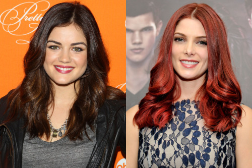 Beauty battle! Ashley Greene and Lucy Hale were both spotted wearing glossy berry-colored lips. Tell us who wore it best here »