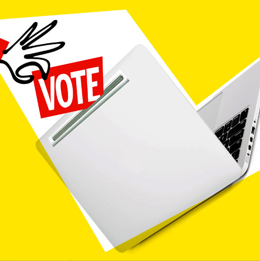 Why You Can't Vote Online Tuesday Fundamental security problems aren't solved, computer security experts say.  Illustration by Laurie Rosenwald