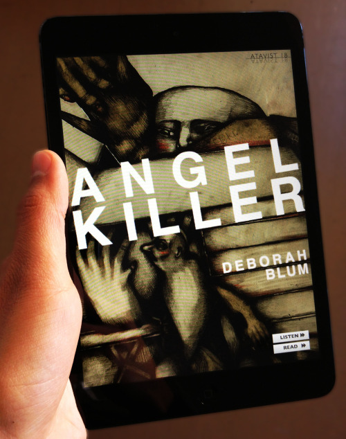What we're reading on our new iPad Mini: Deborah Blum's true crime bestseller Angel Killer.