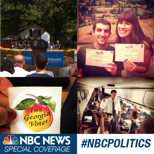 NBC News Special Coverage: #NBCPolitics Election Day is only one day away. Share your election photos with the hashtag #NBCPolitics. We'll be featuring your photos broken down by state on Electiongrams.com.