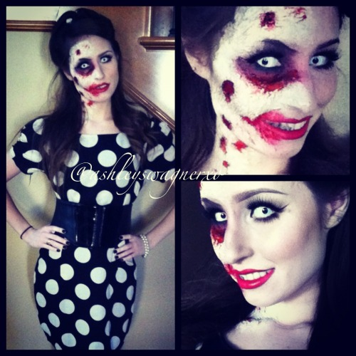 pin-up zombie makeup theme post ashleyswagner.tumblr.com instagram: ashleyswagnerxo
