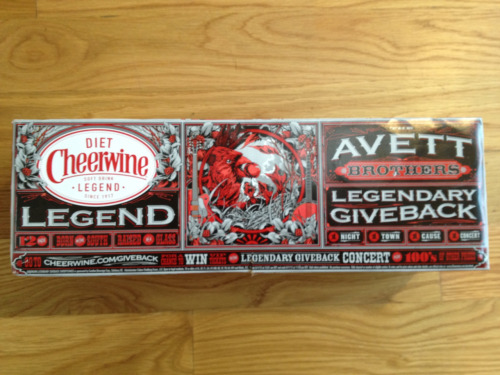 Avett Brothers on a Diet Cheerwine box. Whoa! It's two great North Carolina tastes coming together! A NC Reese's Cup!